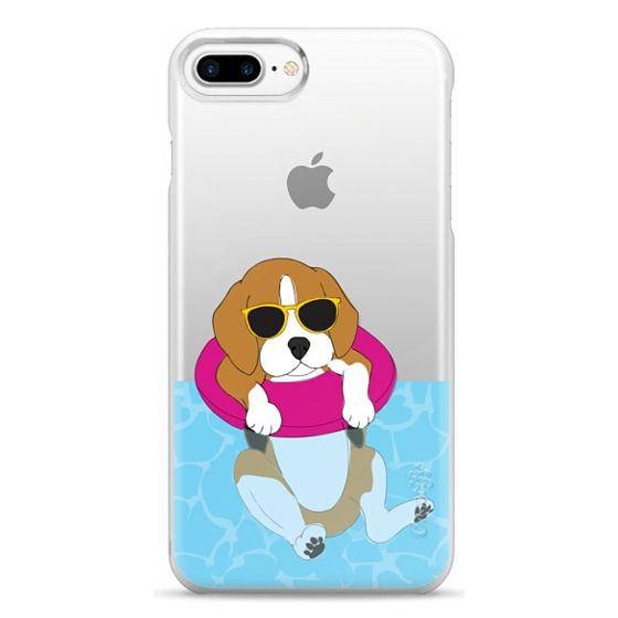 iPhone 7 Plus Cases - Swimming Beagle