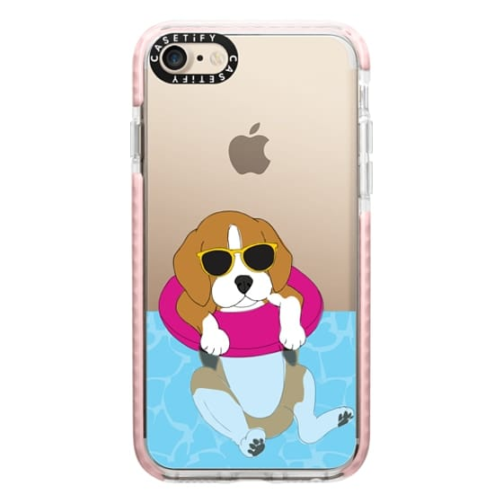 iPhone 7 Cases - Swimming Beagle