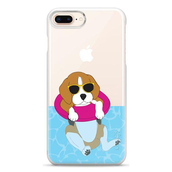 iPhone 8 Plus Cases - Swimming Beagle