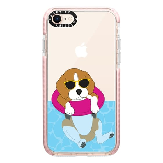 iPhone 8 Cases - Swimming Beagle