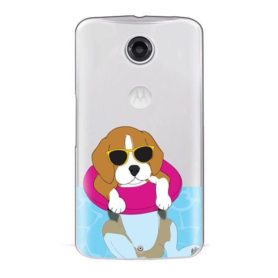 Nexus 6 Cases - Swimming Beagle