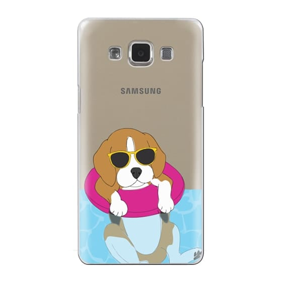 Samsung Galaxy A5 Cases - Swimming Beagle