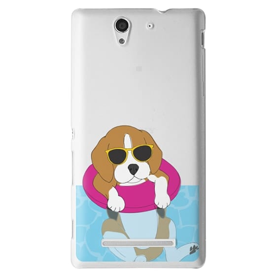 Sony C3 Cases - Swimming Beagle
