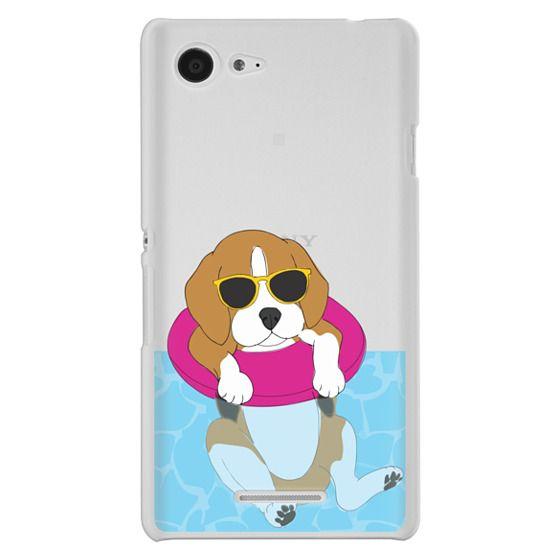 Sony E3 Cases - Swimming Beagle