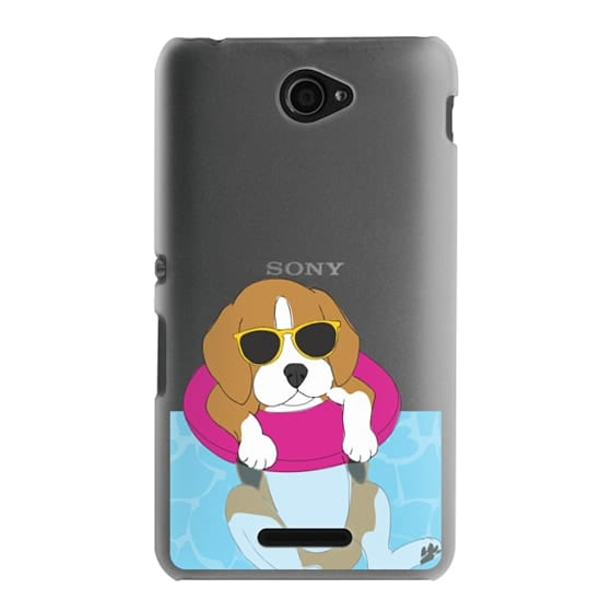 Sony E4 Cases - Swimming Beagle