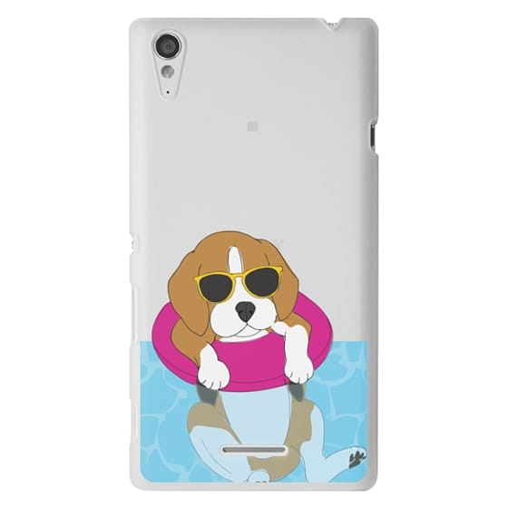 Sony T3 Cases - Swimming Beagle