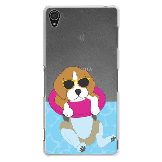 Sony Z3 Cases - Swimming Beagle