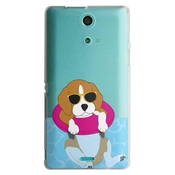 Sony Zr Cases - Swimming Beagle