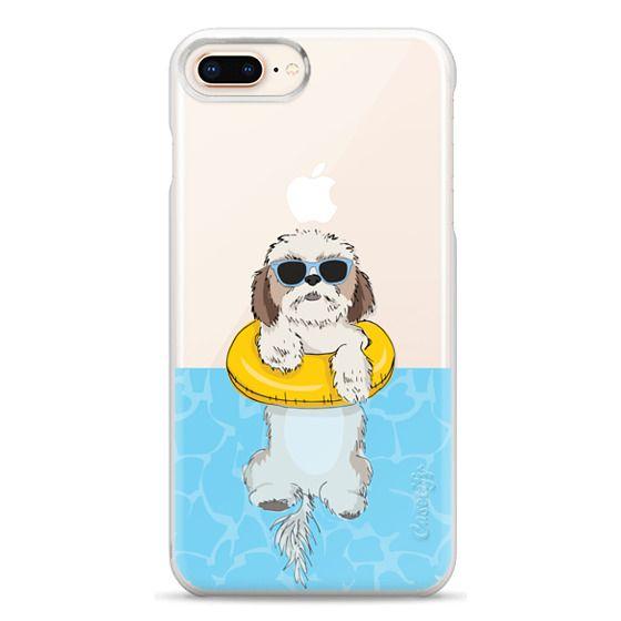 iPhone 8 Plus Cases - Swimming Shih Tzu