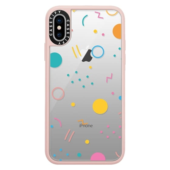 iPhone X Cases - Colorful Shapes (Clear)