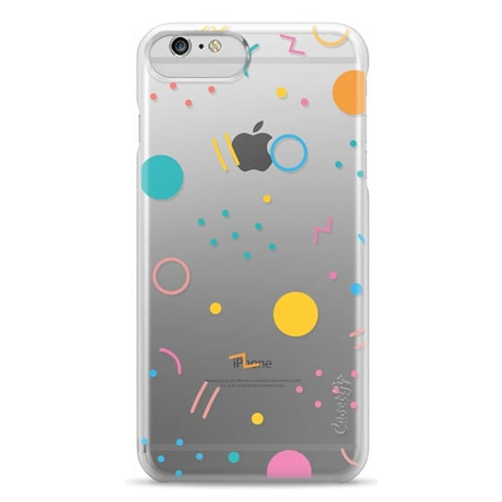 iPhone 6 Plus Cases - Colorful Shapes (Clear)