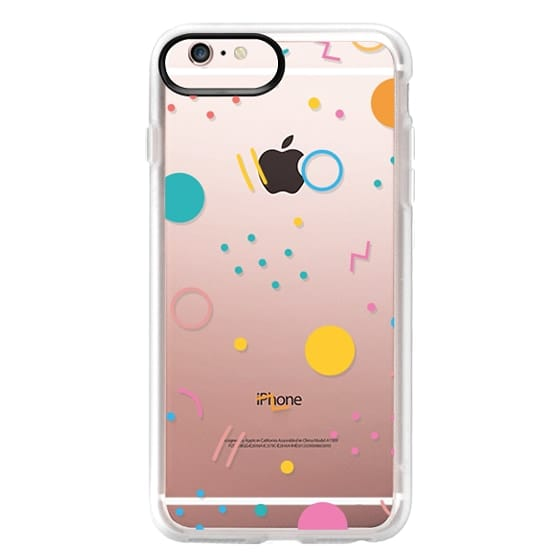iPhone 6s Plus Cases - Colorful Shapes (Clear)