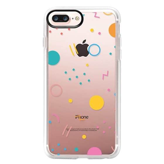 iPhone 7 Plus Cases - Colorful Shapes (Clear)