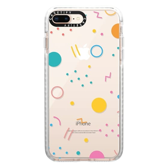 iPhone 8 Plus Cases - Colorful Shapes (Clear)