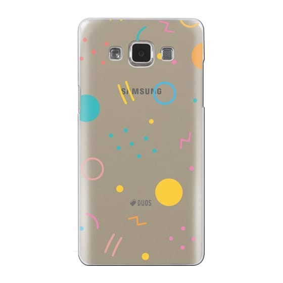 Samsung Galaxy A5 Cases - Colorful Shapes (Clear)