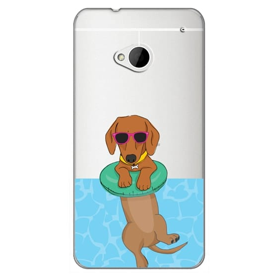 Htc One Cases - Swimming Dachshund