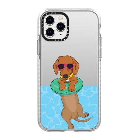 iPhone 11 Pro Cases - Swimming Dachshund