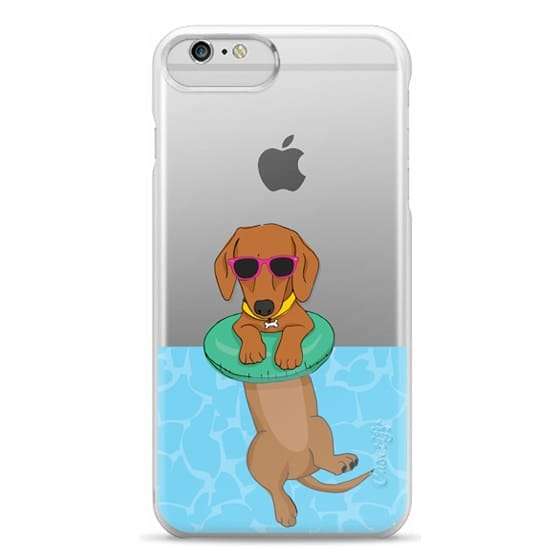 iPhone 6 Plus Cases - Swimming Dachshund