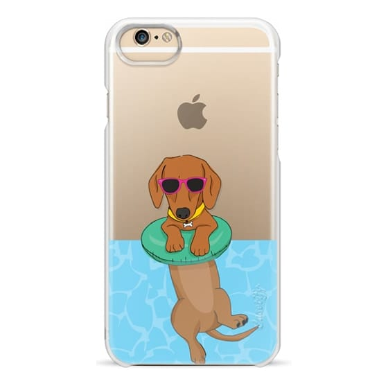 iPhone 6 Cases - Swimming Dachshund