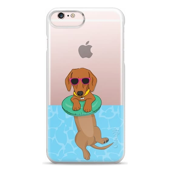 iPhone 6s Plus Cases - Swimming Dachshund