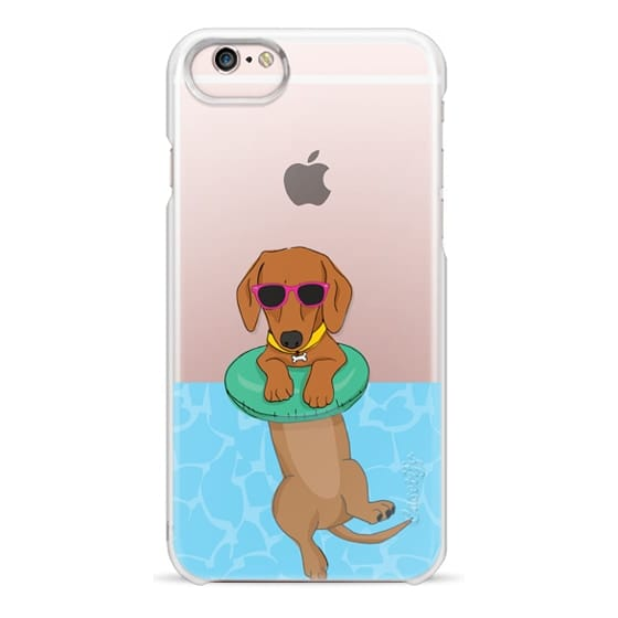iPhone 6s Cases - Swimming Dachshund