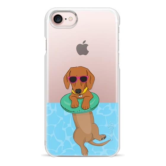 iPhone 7 Cases - Swimming Dachshund