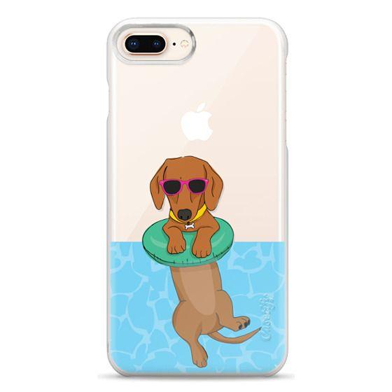 iPhone 8 Plus Cases - Swimming Dachshund