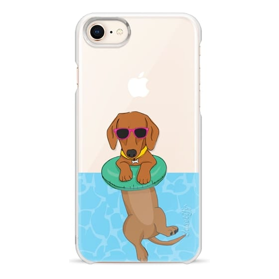 iPhone 8 Cases - Swimming Dachshund
