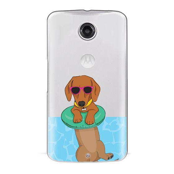 Nexus 6 Cases - Swimming Dachshund