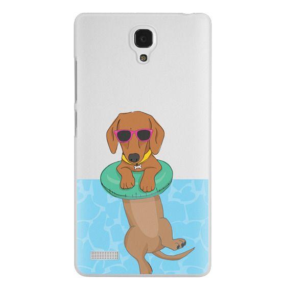 Redmi Note Cases - Swimming Dachshund