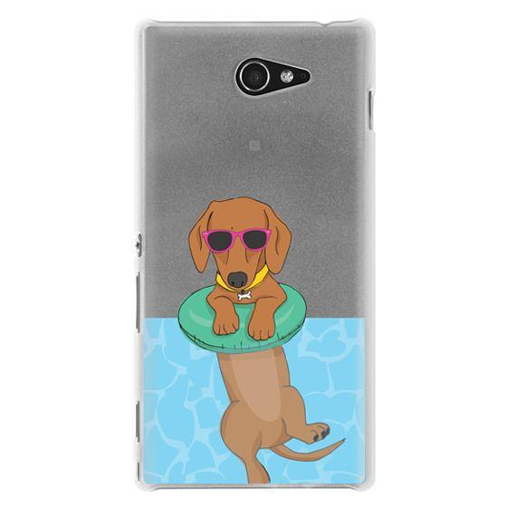 Sony M2 Cases - Swimming Dachshund