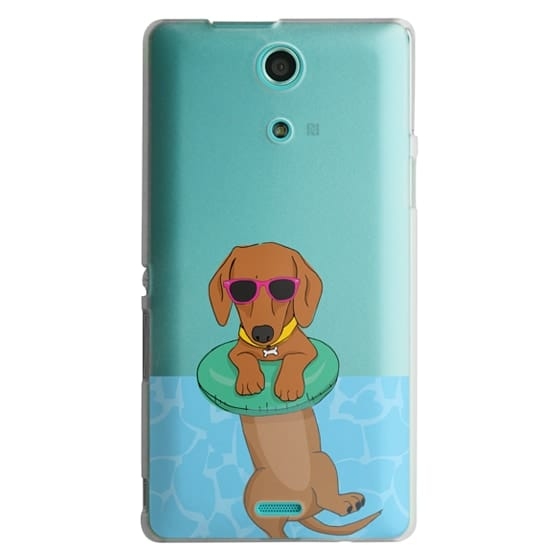 Sony Zr Cases - Swimming Dachshund