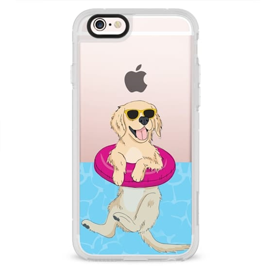 iPhone 6s Cases - Swimming Golden Retriever