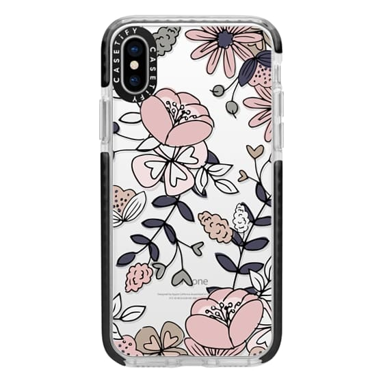 iPhone X Cases - Blush Floral