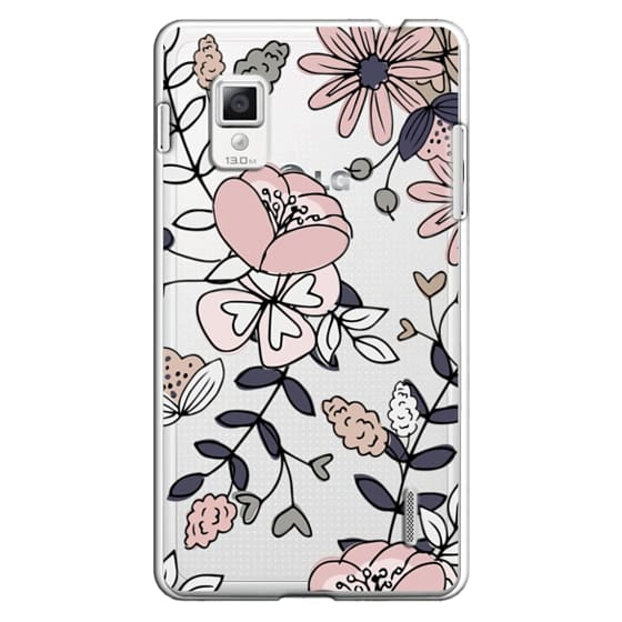 Optimus G Cases - Blush Floral