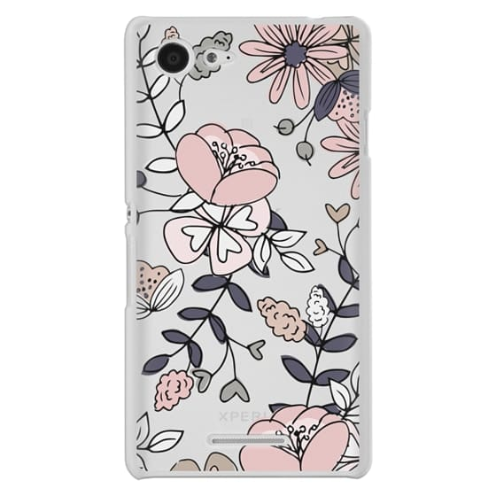 Sony E3 Cases - Blush Floral