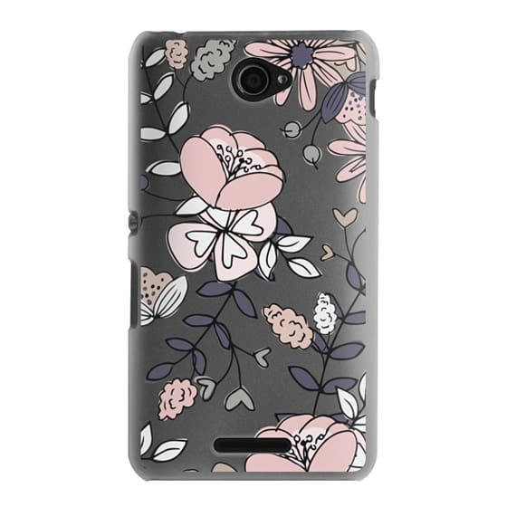 Sony E4 Cases - Blush Floral
