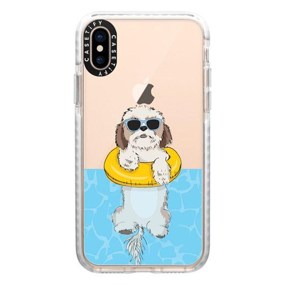 iPhone XS Cases - Swimming Shih Tzu