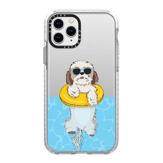 iPhone 11 Pro Cases - Swimming Shih Tzu