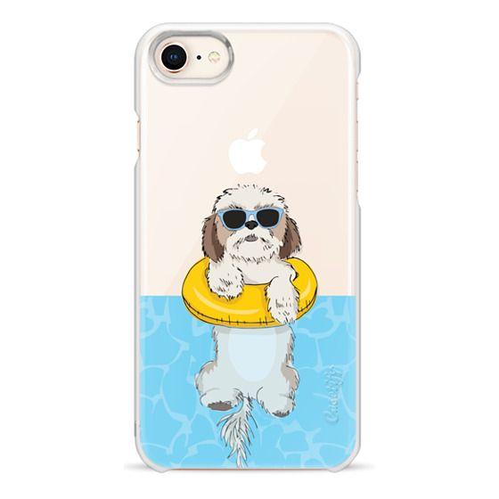 iPhone 8 Cases - Swimming Shih Tzu
