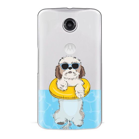 Nexus 6 Cases - Swimming Shih Tzu