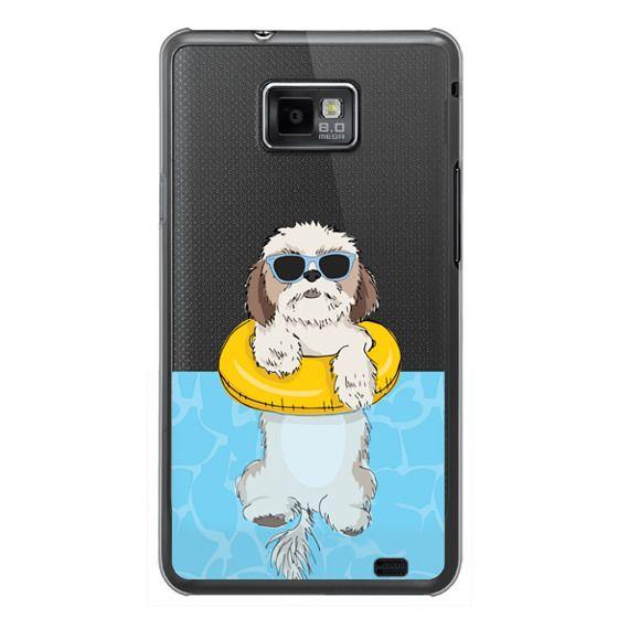 Samsung Galaxy S2 Cases - Swimming Shih Tzu