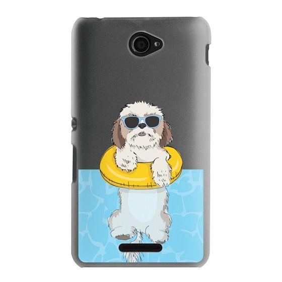 Sony E4 Cases - Swimming Shih Tzu