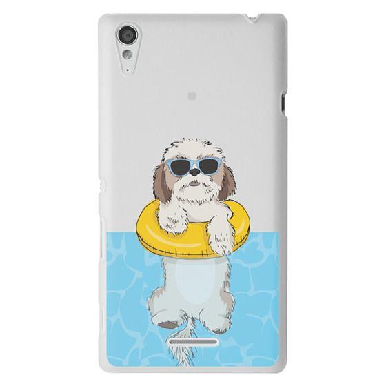Sony T3 Cases - Swimming Shih Tzu