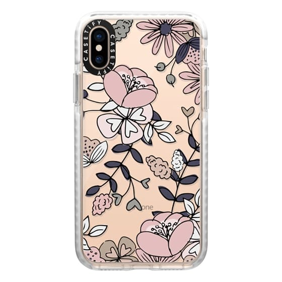 iPhone XS Cases - Blush Floral