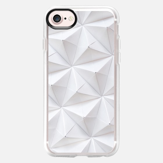 Origami in White by Coco Sato - Wallet Case