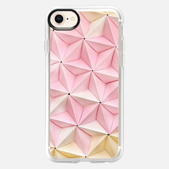 Origami in Pastel Pink by Coco Sato - Snap Case