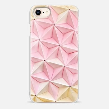 iPhone 8 ケース Origami in Pastel Pink by Coco Sato