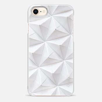 iPhone 8 ケース Origami in White by Coco Sato