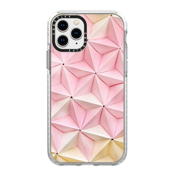 iPhone 11 Pro Cases - Origami in Pastel Pink by Coco Sato
